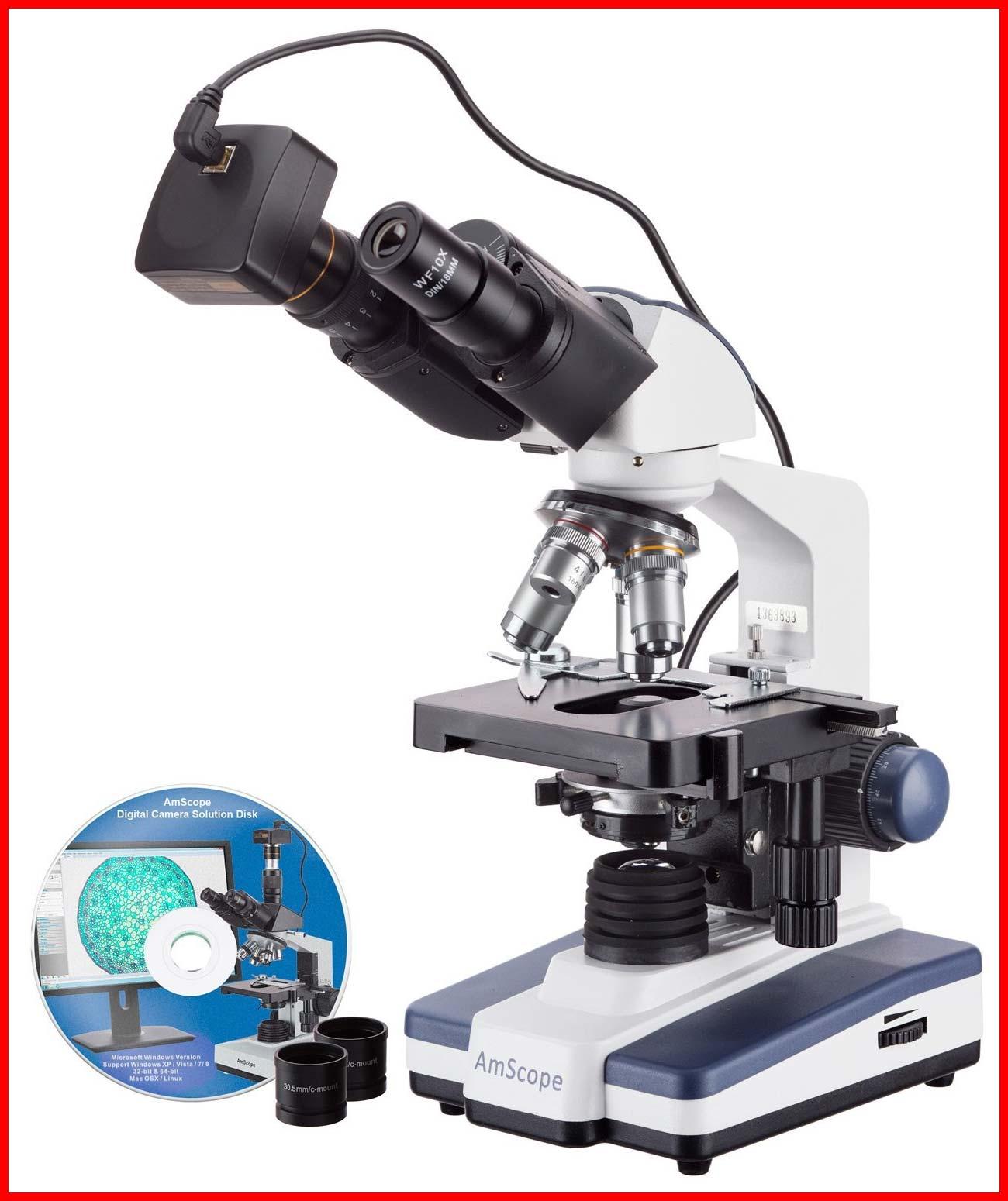 Binokularmikroskop Amscope digital mit 1,3MP USB-Kamera