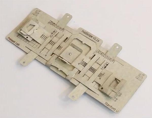 Foldscope mikroskop aus papier für cent