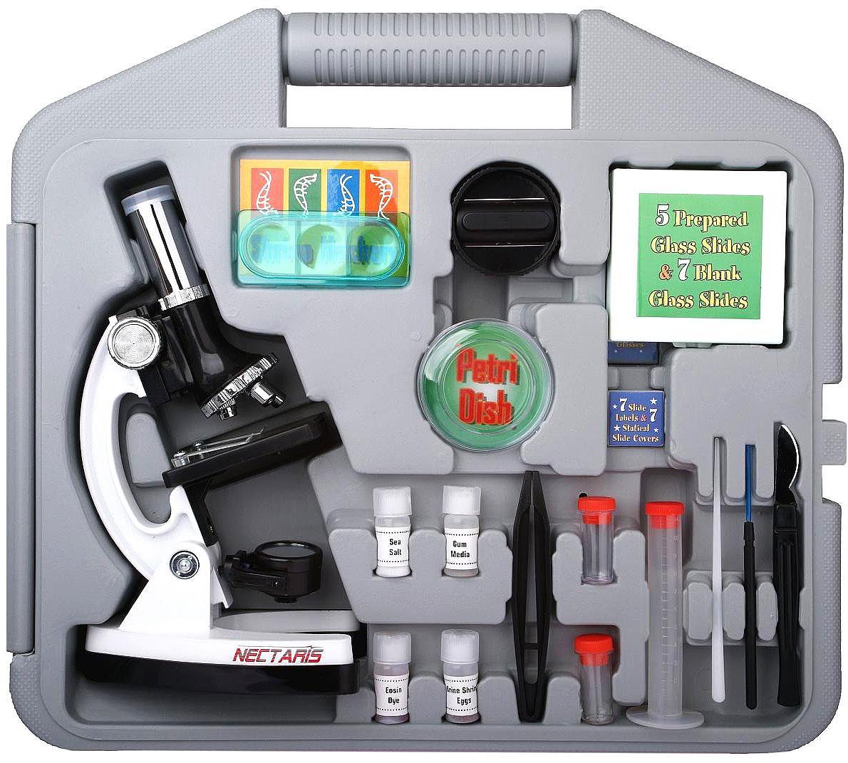 Kinder-Mikroskop NECTARIS 900x (Lern-Set)